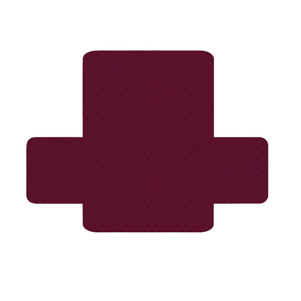 Artiss Sofa Cover Quilted Couch Covers Protector Slipcovers 2 Seater Burgundy 3