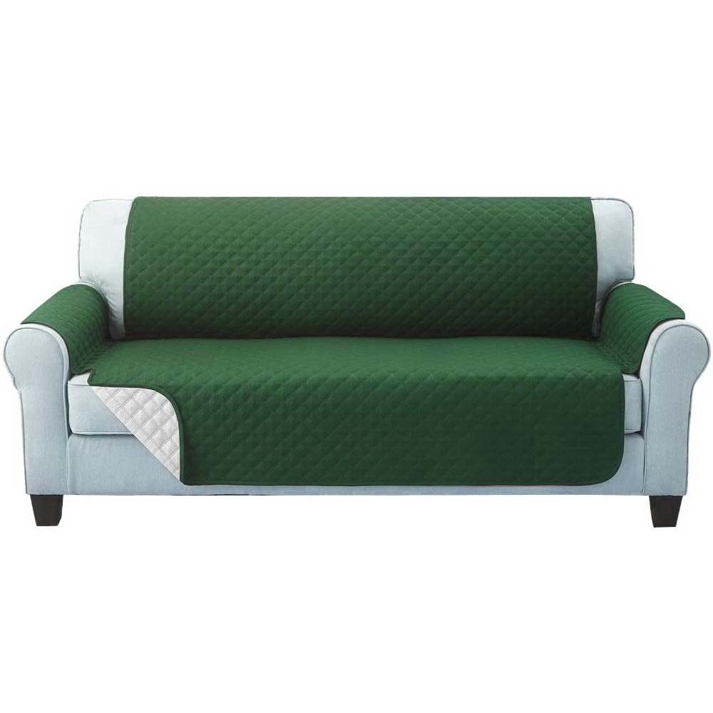 Artiss Sofa Cover Quilted Couch Covers Protector Slipcovers 3 Seater Green 1