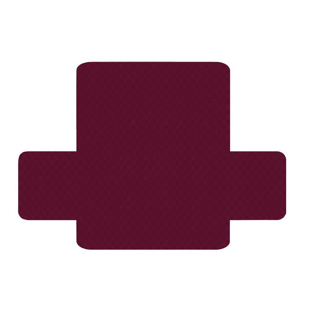 Artiss Sofa Cover Quilted Couch Covers Protector Slipcovers 3 Seater Burgundy 3