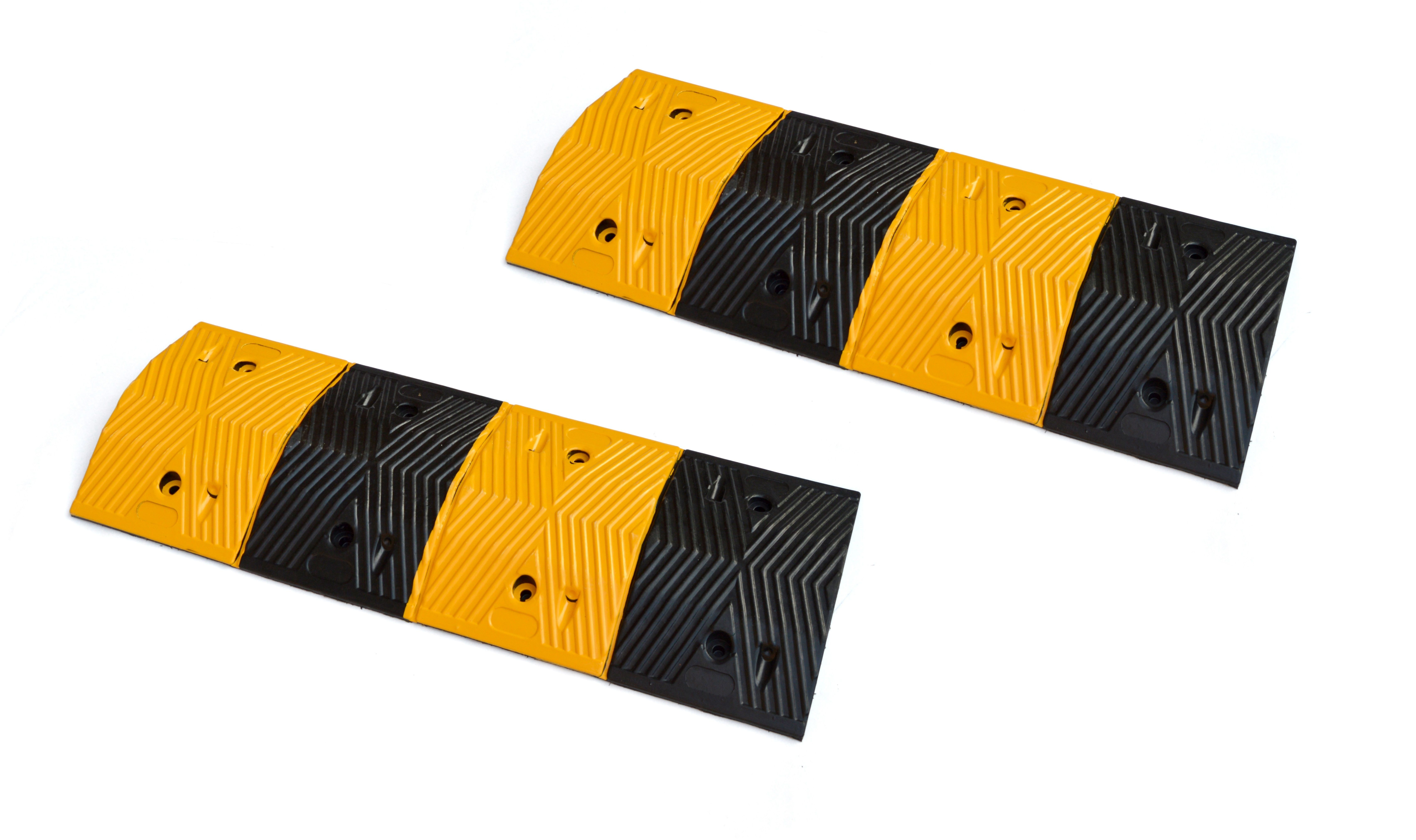 Pair of 1m Long 60T Load Rubber Speed Bump Hump Modular Speed Humps Road Hump