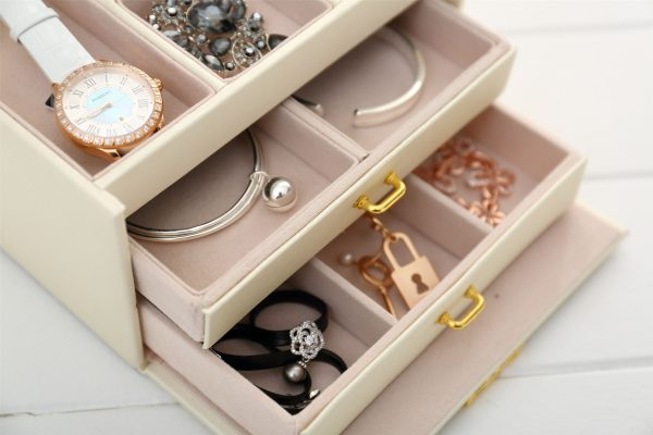 Jewellery Storage Box Girls Rings Necklaces Display Organiser Storage Case 4